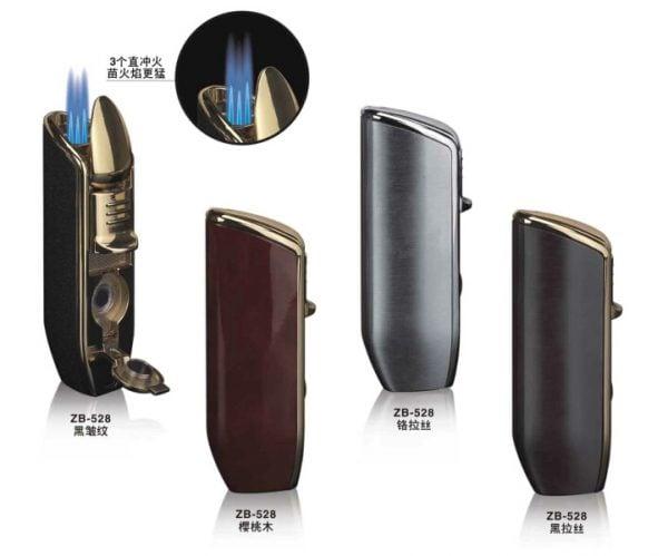 Korek Torch Cerutu Cosmos Triple Torch Lighter with Puncher