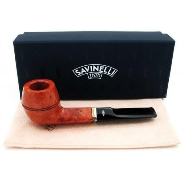SAVINELLI ONDA SMOOTH 504 6MM Pipa Cangklong Briar Tobacco Pipe