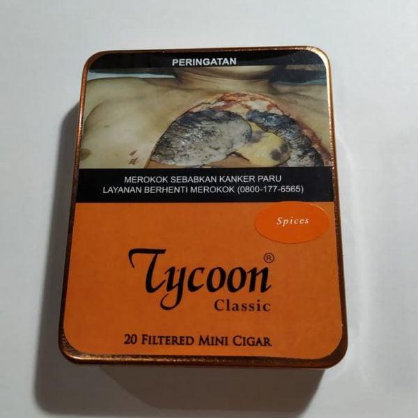 Tycoon Mini Cigarillos Spices (Tin-20) - Cerutu Kecil Aroma Rempah