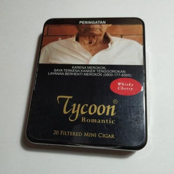 Tycoon Mini Cigarillos Whisky Cherry (Tin-20) - Cerutu Kecil
