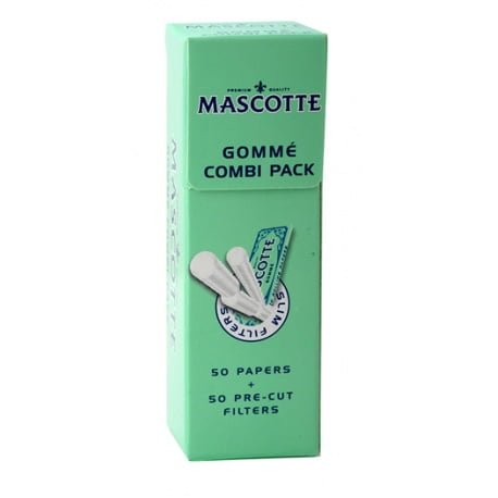 Mascotte Gomme Combi Pack (Papir + Filter Rokok Linting) isi 50 pcs