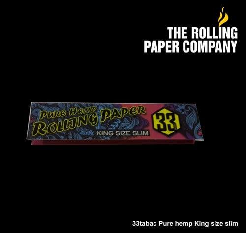 33Tabac PURE HEMP - KING SIZE SLIM Rolling Paper Papir Kertas Linting