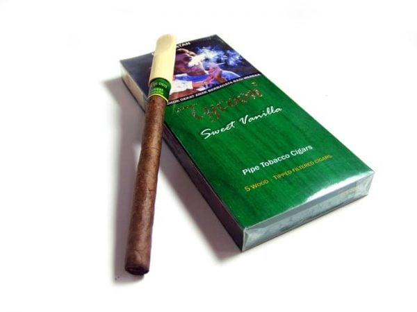 Tycoon Wood Tipped Cigars Vanilla (Pack-5) - Cerutu Aroma Vanilla